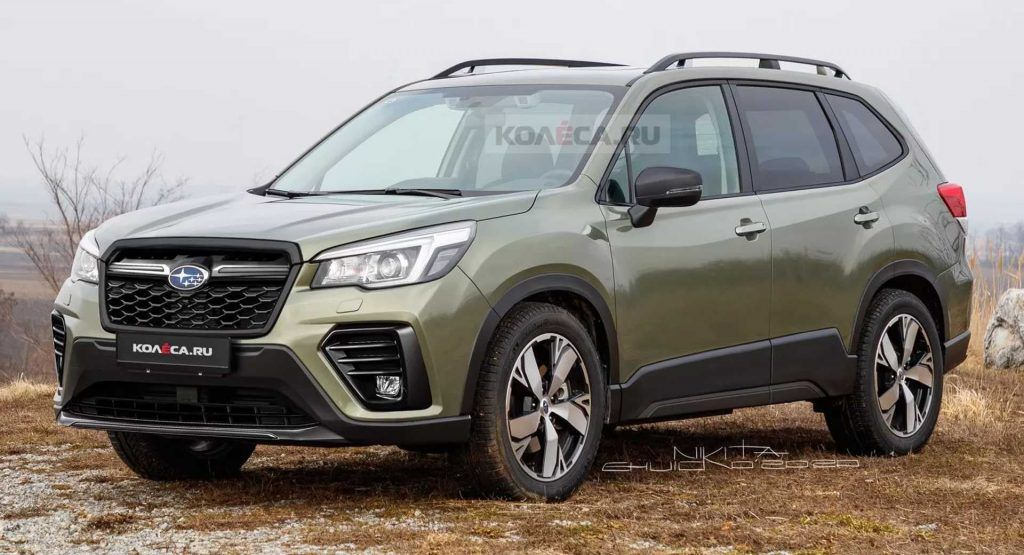 Facelifted 2022 Subaru Forester Illustrated Without The Camo Carscoops In 2021 Subaru Forester Subaru Subaru Models