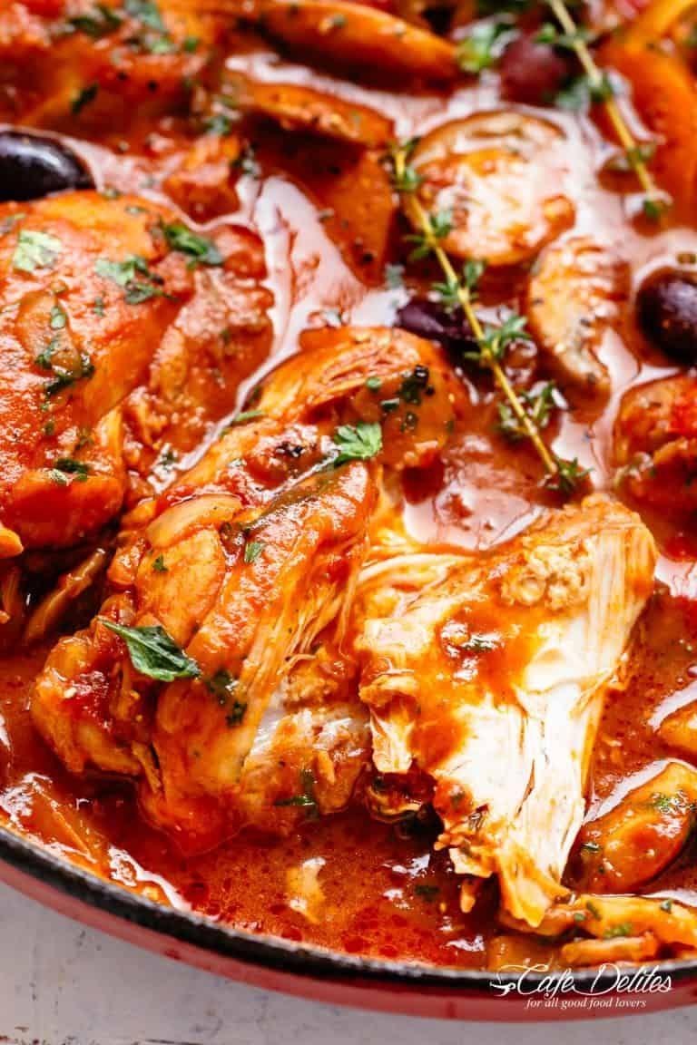 Chicken Cacciatore Cafedelites Com Chicken Recipes Cacciatore Recipes Chicken Cacciatore Recipe Chicken Recipes