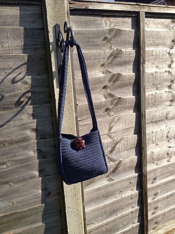 Vintage Crochet Handbag Crochet Shoulder Bag Handmade