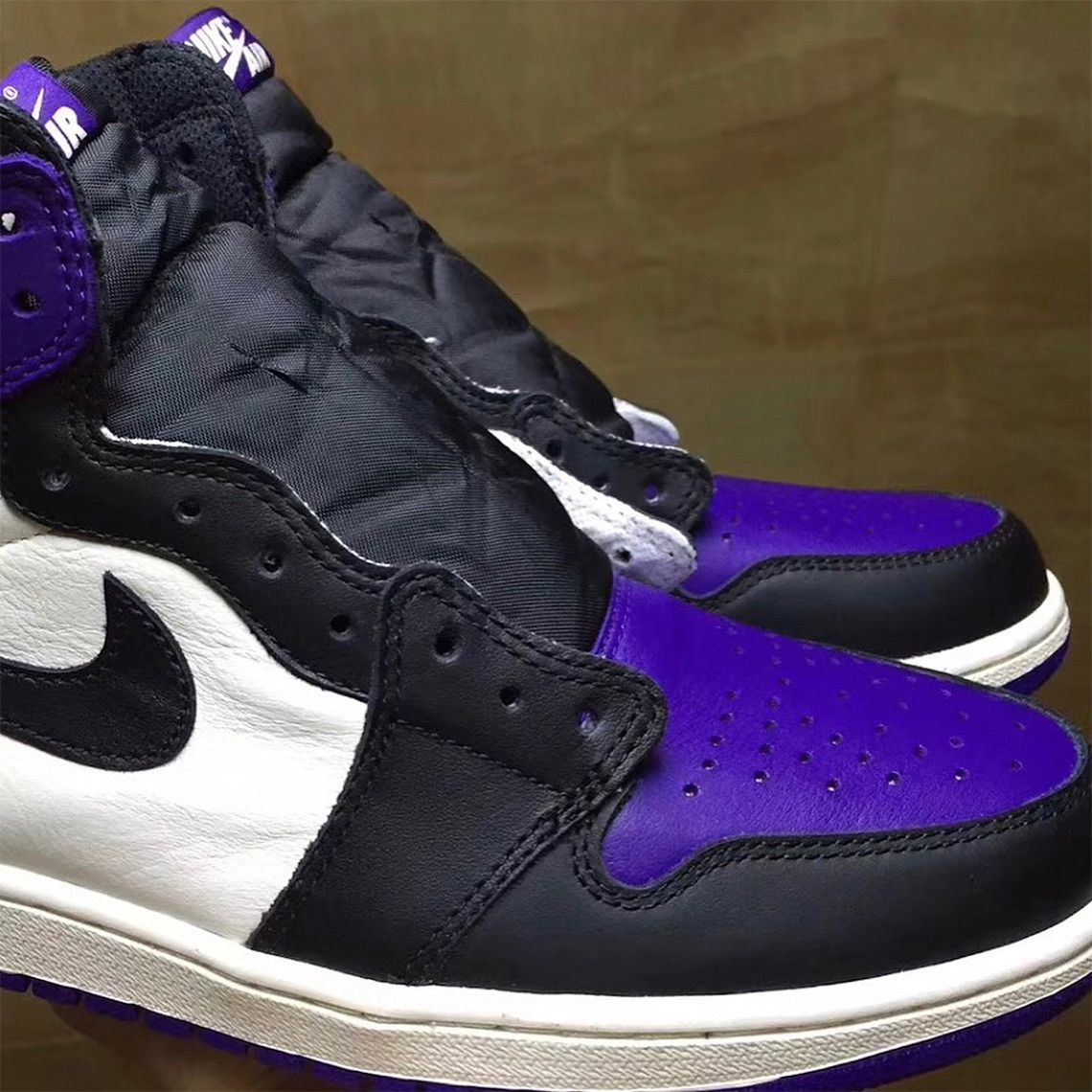 "low priced 0538a faee4 Up Close With The Air Jordan 1 Retro High OG ""Court Purple"""