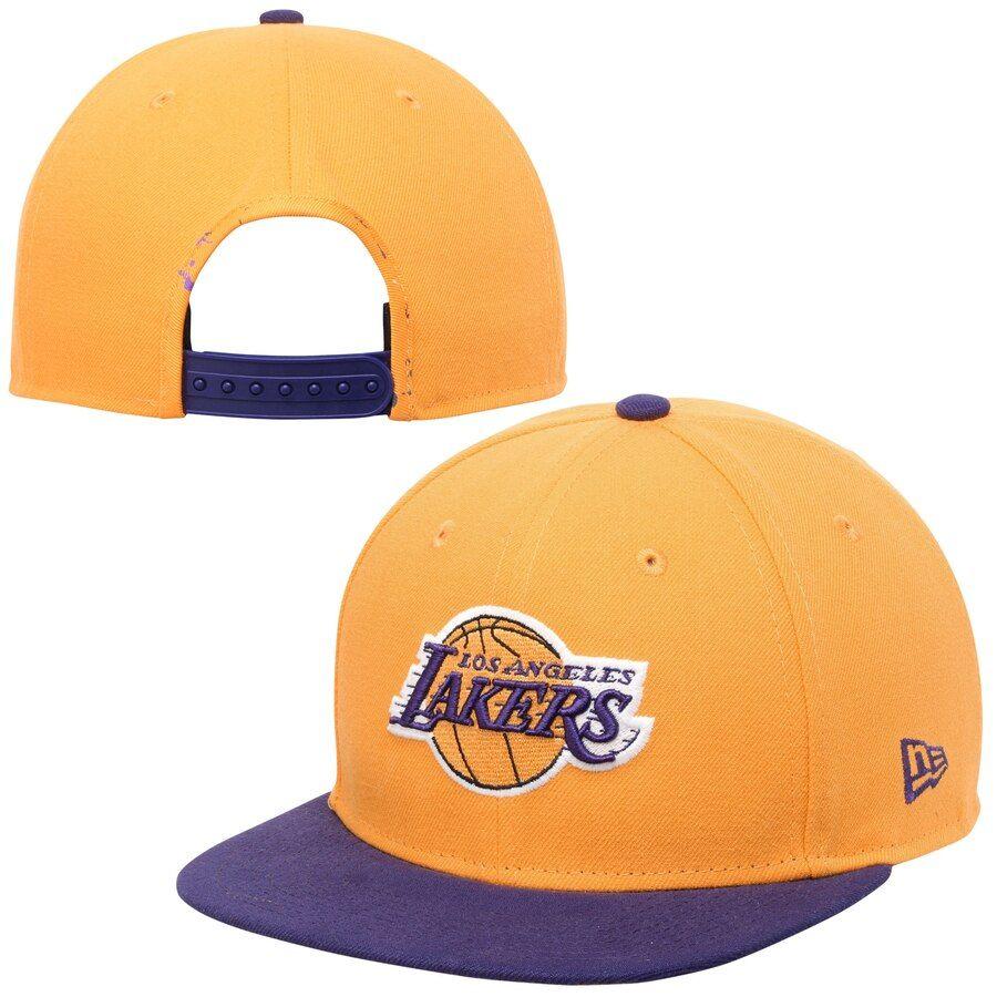 0c813fe5 Men's Los Angeles Lakers New Era Gold Glow-in-the-Dark Original Fit ...