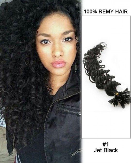 Wholesale 18 24 1 Jet Black Deep Wave 100 Remy Hair Human Nail