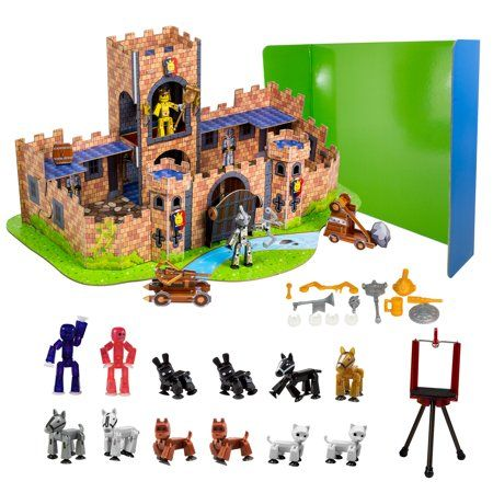 Free 2-day shipping Buy Stikbot Deluxe Movie Set - Castle Scene at
