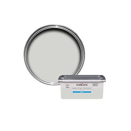 Colours Grey Hints Matt Emulsion Paint 25L