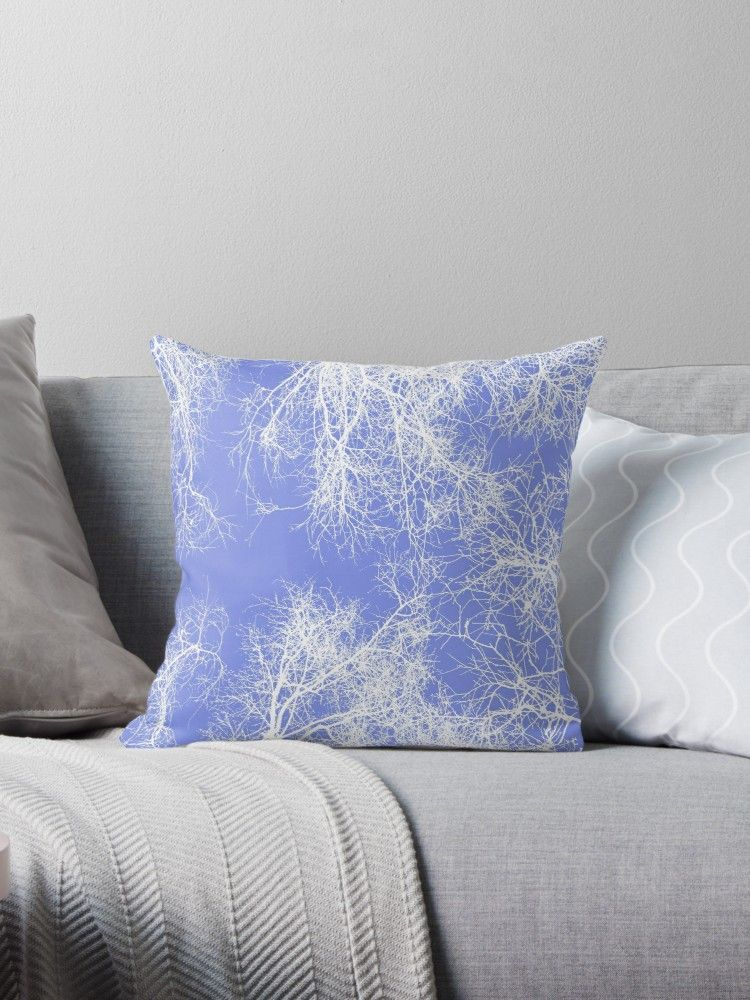 Buy  White silhouetted trees on blue  by steveball as a Graphic T-Shirt 00b9dbba93