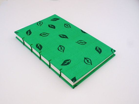 Cuaderno Verde Mediano Libreta Hecha A Mano Cuaderno Con Hojas
