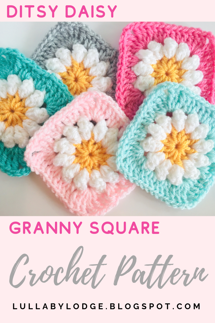 Daisy Granny Square - Free Crochet Pattern