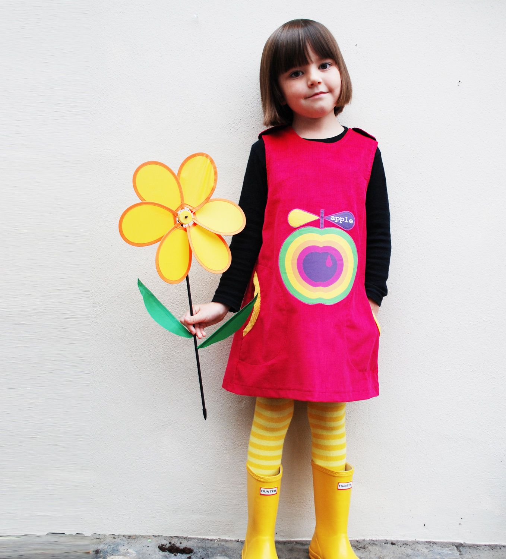d3175dc6e7f13 Rainbow apple girls winter pinafore dress   girls dress, skirt ...