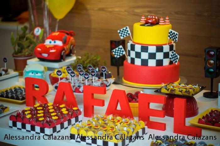 Cars Themed Birthday Party Decorating Ideas Part - 28: Car Themed Birthday Party With
