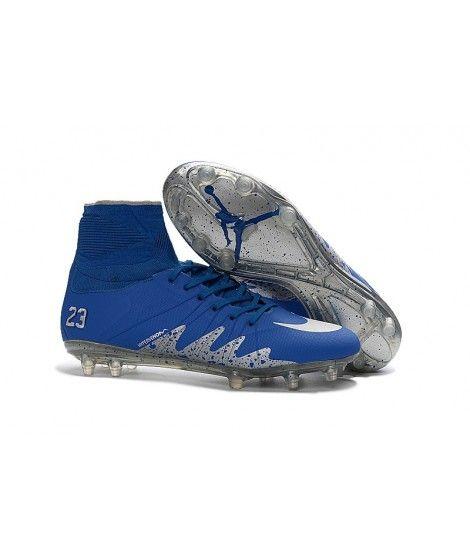 detailed look 6915e a9496 Nike Hypervenom Phantom II NJR FG PEVNÝ POVRCH Neymar Jordan Kopačky Modrý  Stříbro