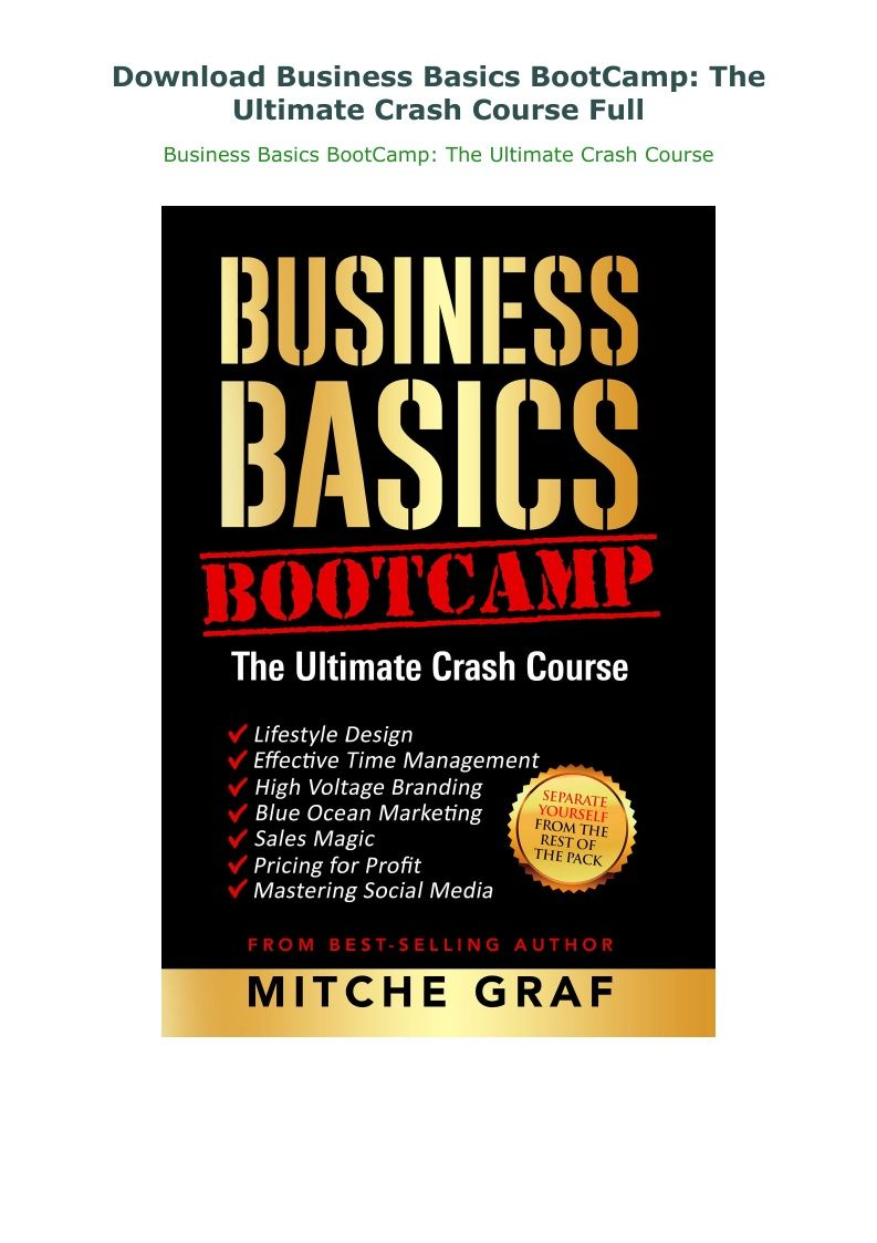 Business Basics Bootcamp The