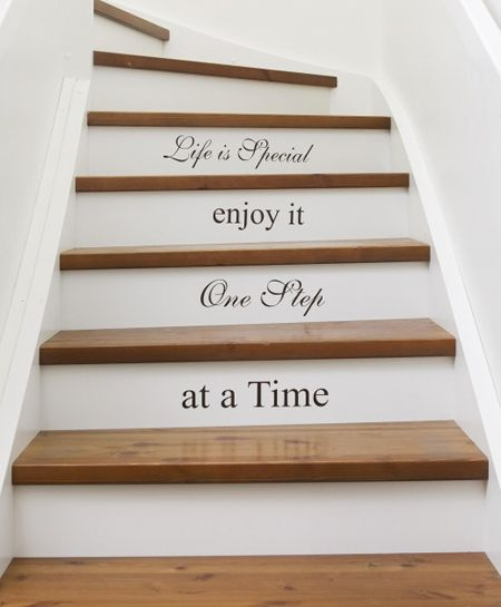 58 Cool Ideas For Decorating Stair Risers: Stair Art. Great Way To Motivate Yourself With Inspiring