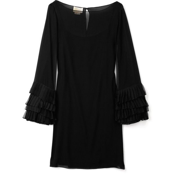 Notte by Marchesa Bateau Neck Chiffon Dress, found on polyvore.com