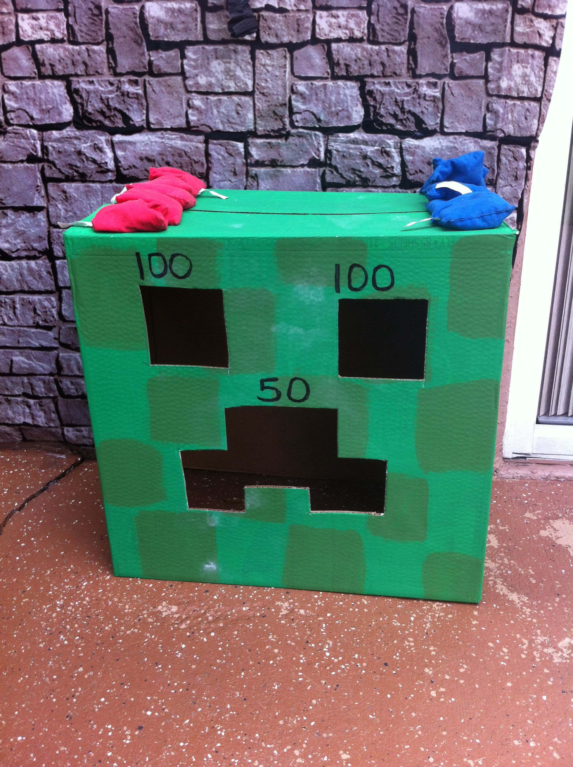 Fine Minecraft Creeper Bean Bag Toss The Kids Loved This Ocoug Best Dining Table And Chair Ideas Images Ocougorg