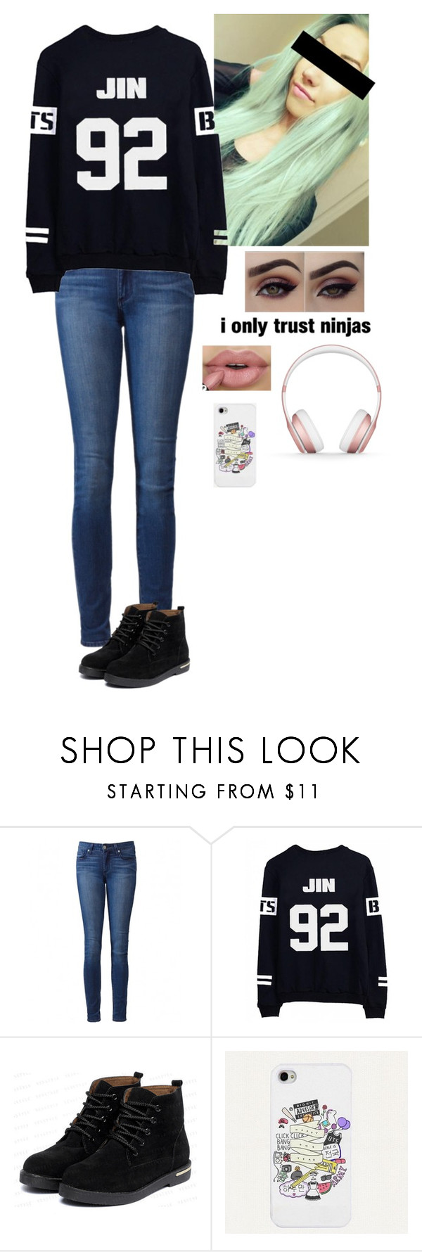 """Ugh, need to learn two different scripts "" by typical-ghoul ❤ liked on Polyvore featuring Paige Denim, yeswalker, Beats by Dr. Dre, women's clothing, women, female, woman, misses and juniors"