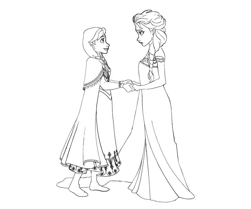 Frozen Coloring Books Disney Kids Colouring Pages
