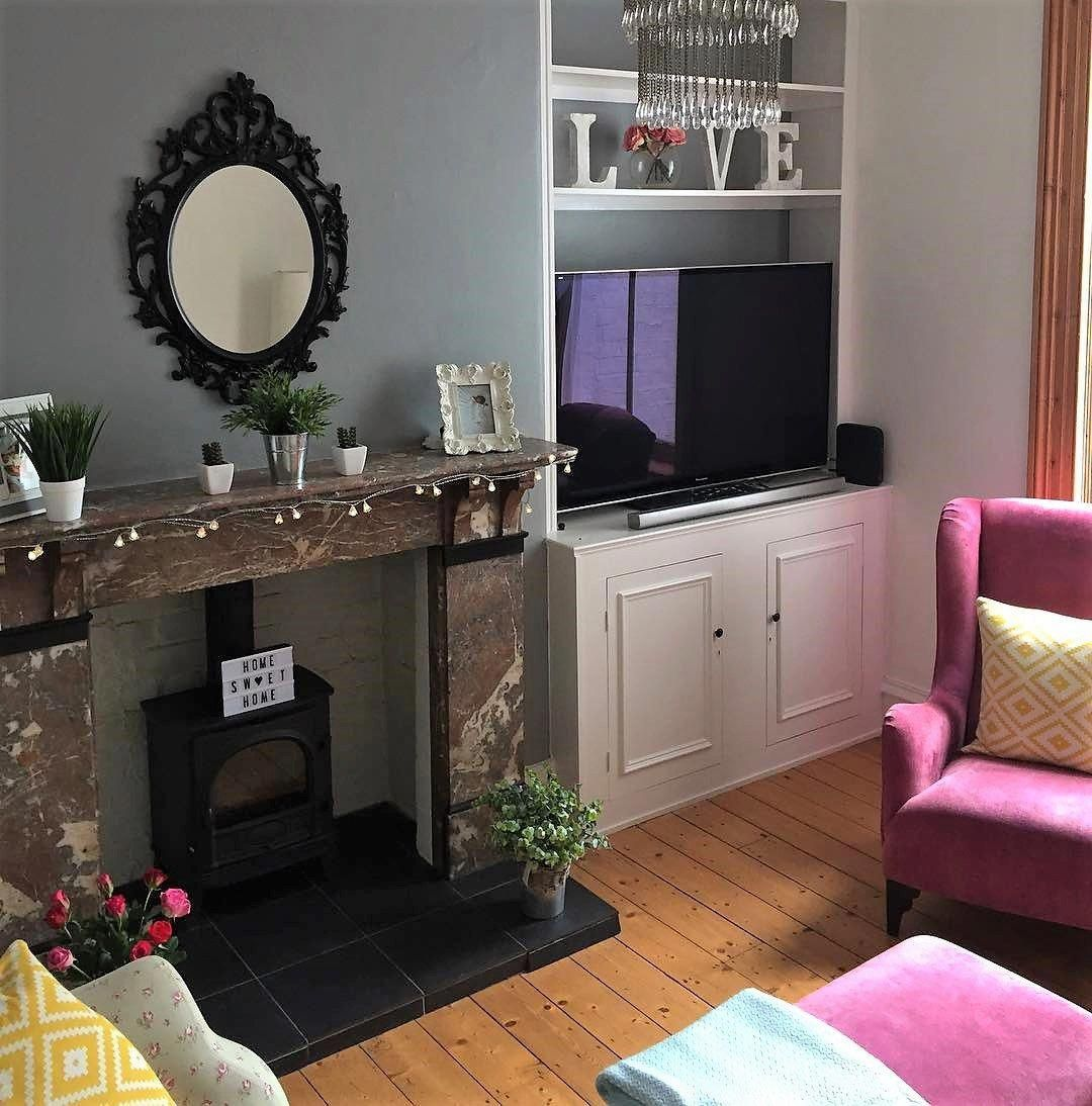 Victorian Terrace Living Room In Pink And Grey On Www Lovetohome Co Uk Photo Gold Living Room Decor Black And Gold Living Room Living Room Decor On A Budget