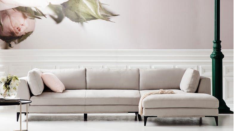 Merveilleux Alara 3 Seater Fabric Sofa With Chaise   Domayne