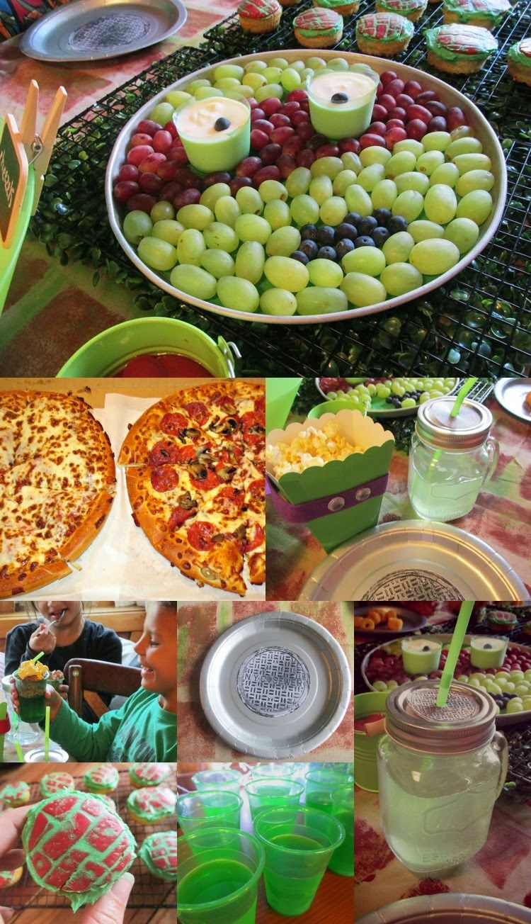 Great Fun Etc Tmnt Party For Young Ninja Turtles Tmnt Party Food Ninja Turtle Theme Party Ninja Turtles Birthday Party