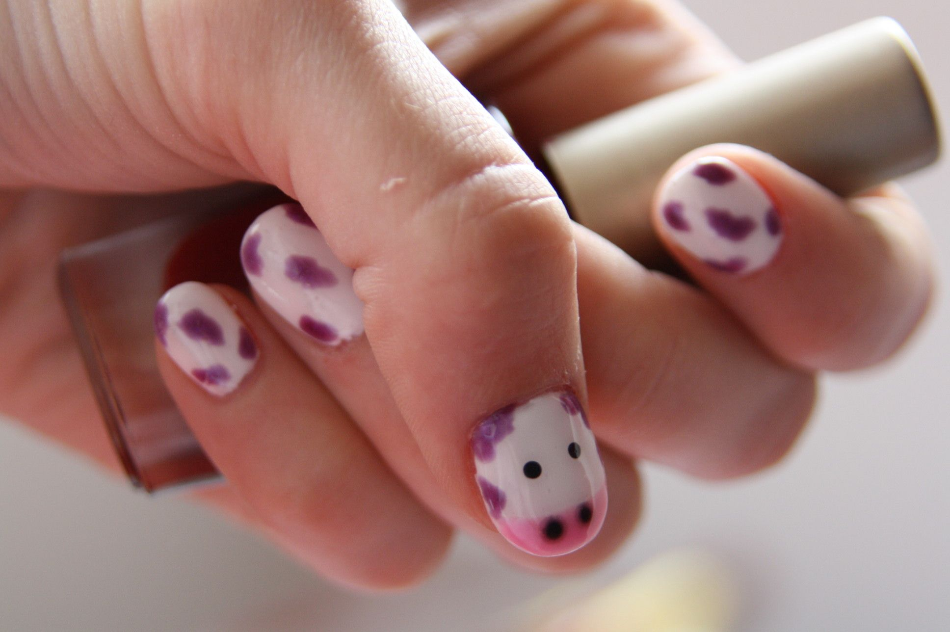 cutie cows as my nails of the month <3 | My Style Pinboard ...