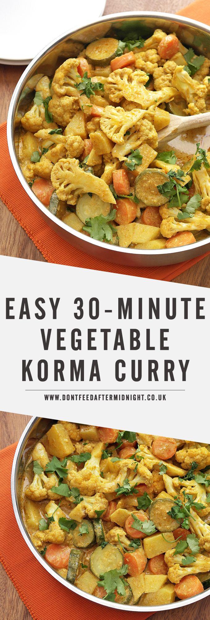 The 25 best vegan food delivery ideas on pinterest savory easy 30 minute vegetable korma forumfinder Gallery