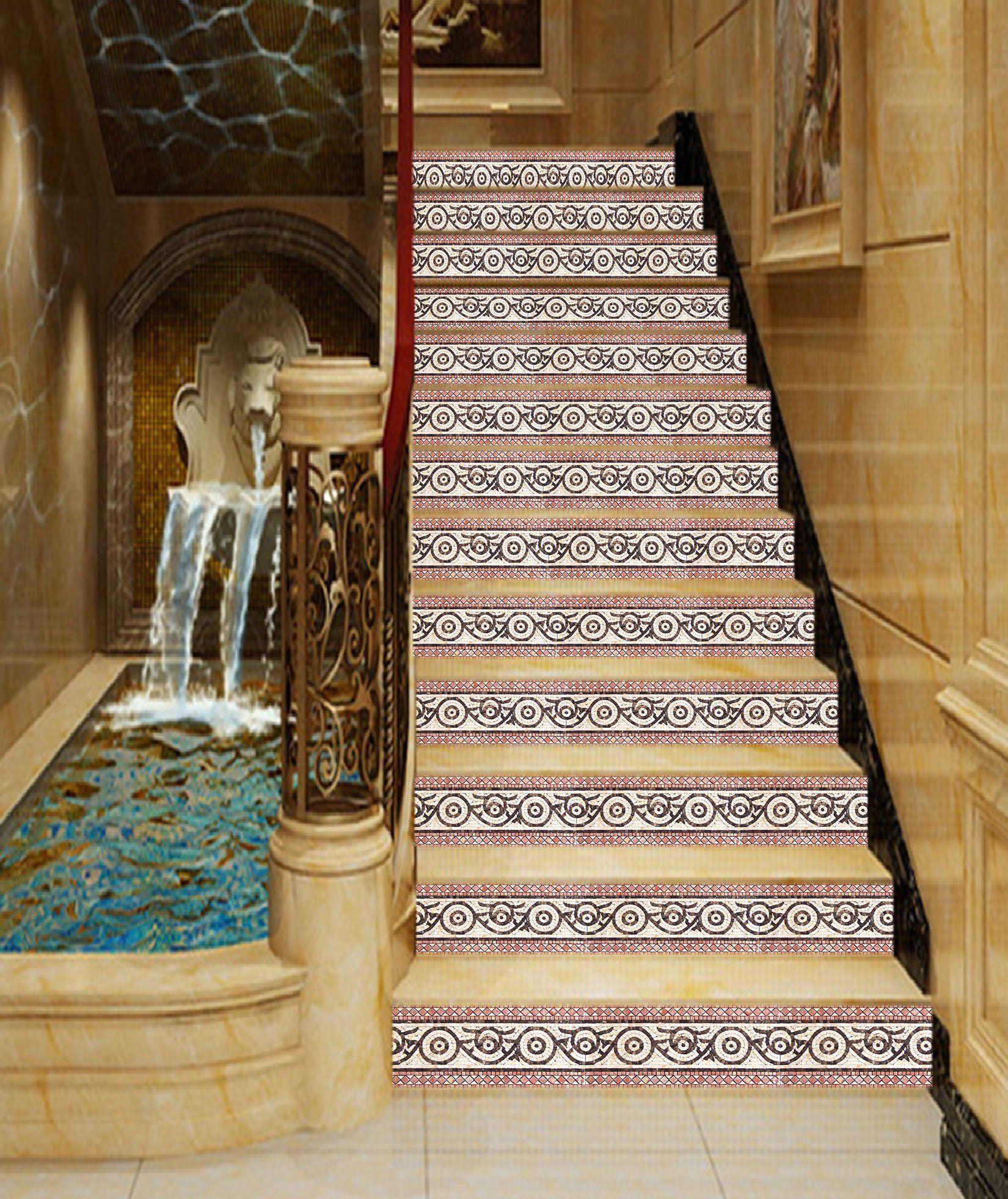 3d Fancy Borders In Printing 33 Stair Risers Aj Wallpaper Stair Risers Photo Mural Stair Riser Decals