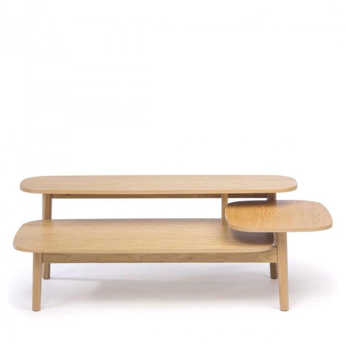 Table Basse En Bois 3 Plateaux Eichberg Taille Tu Avec Images