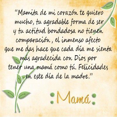 Poesías Cortas Para Mamá Preescolar Palabras Para Mama Feliz Día De La Madre Feliz Día Mamá Frases