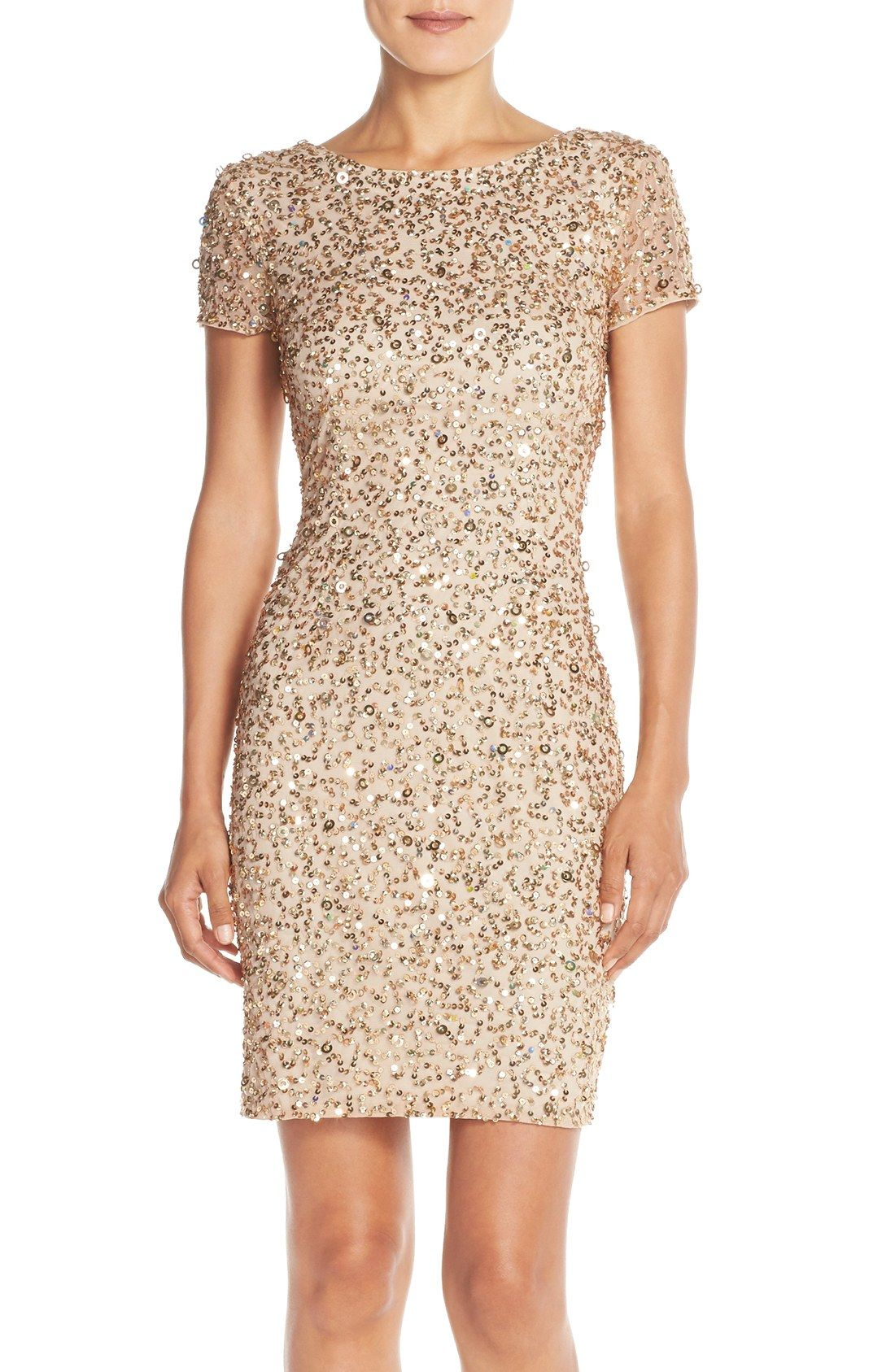 What to wear to a new yearus eve wedding adrianna papell sequins