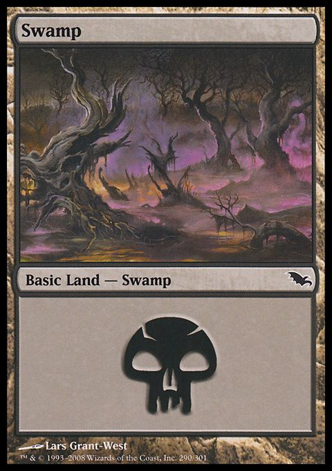 Swamp (1) ($.01) Price History from major stores - Shadowmoor - MTGPrice.com Values for Ebay, Amazon and hobby stores!