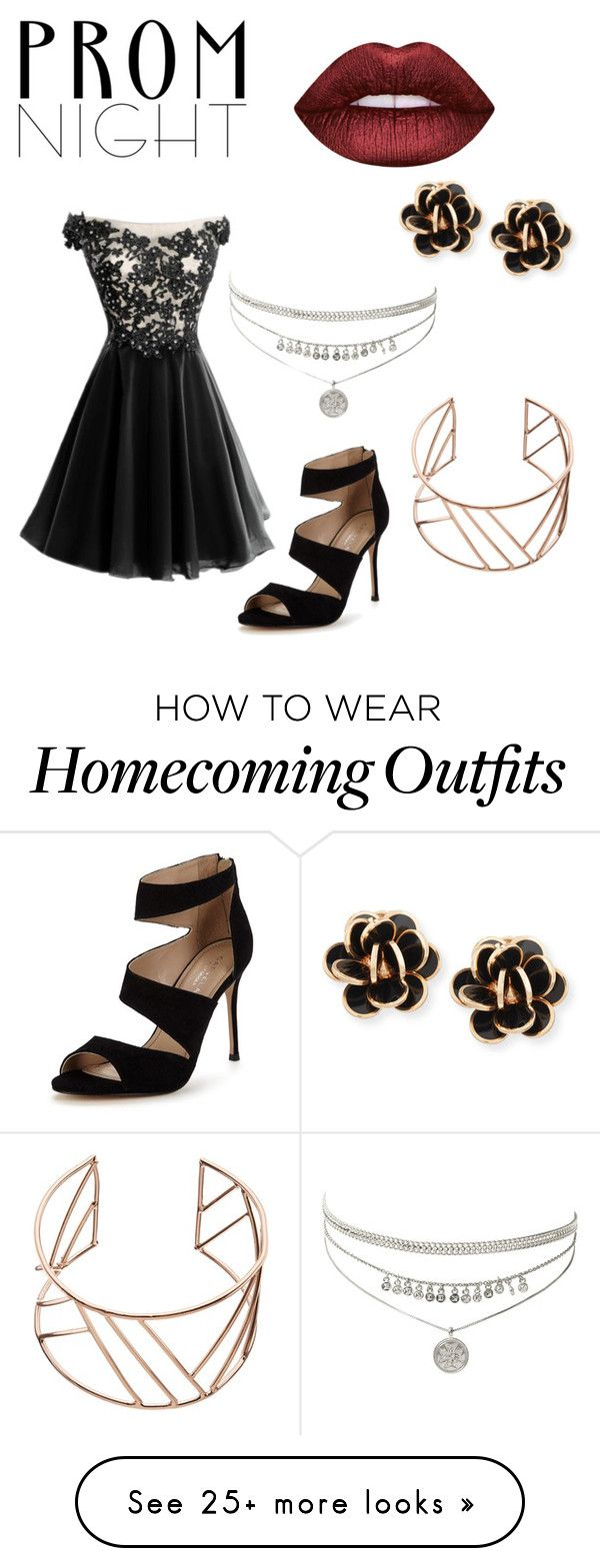 """Prom Night"" by kataetae on Polyvore featuring Carvela, Lime Crime, Chantecler and John Lewis"