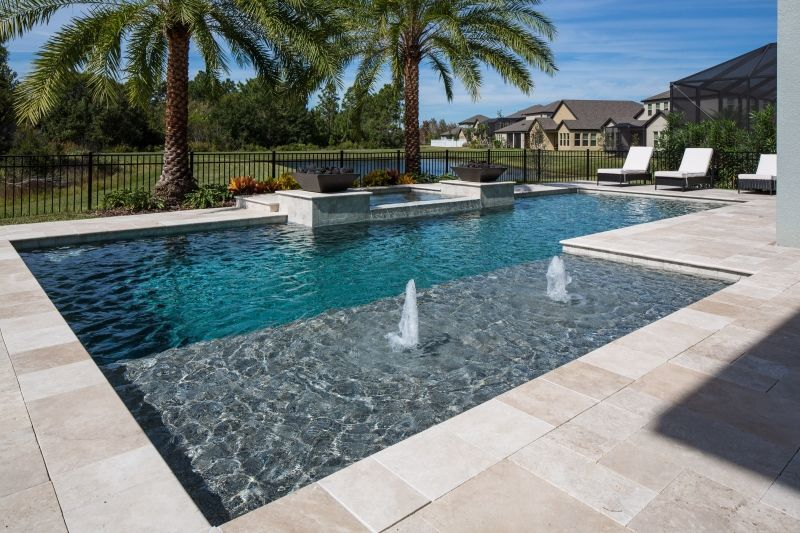 Tampa Bay Pools can design a classical geometric custom pool and spa ...