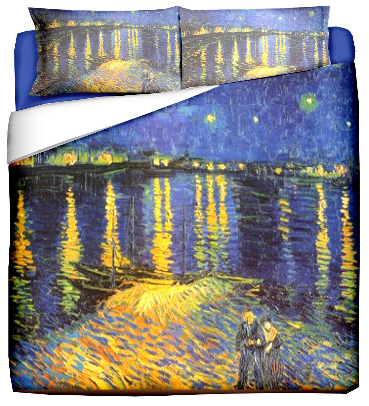 Copripiumino Van Gogh.Copripiumino Matrimoniale Ispirato Alle Opere Di Van Gogh Stampa