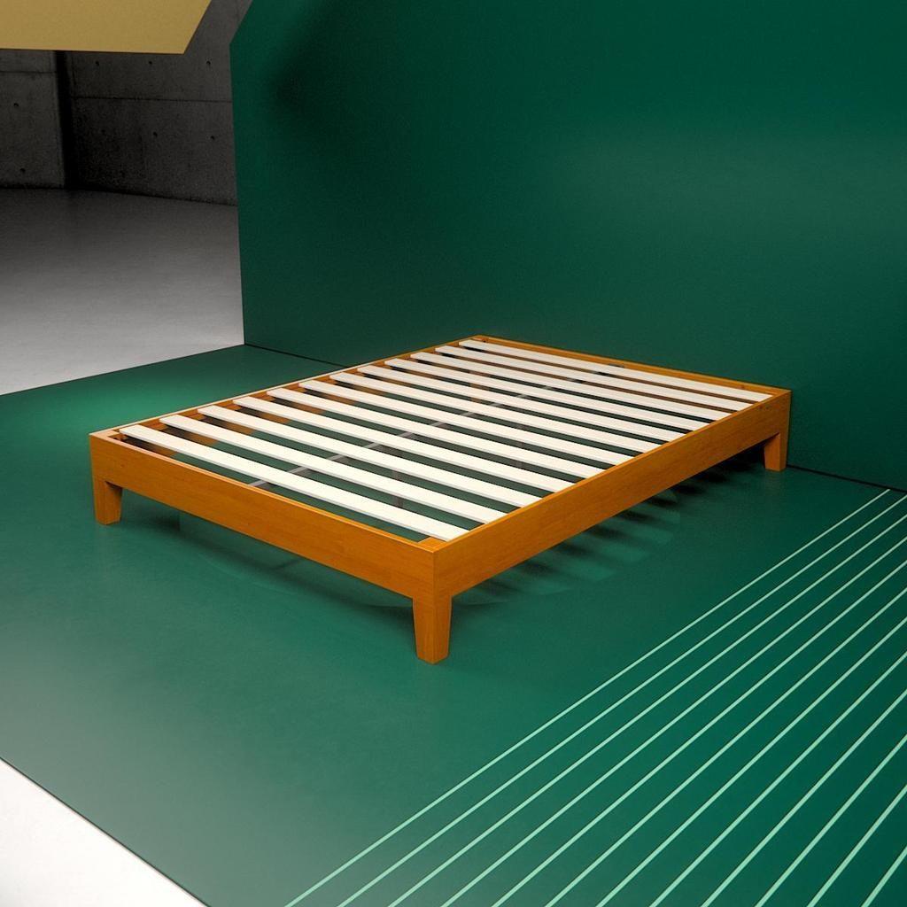 Wooden Deluxe Platform Bed Frame Overhead Angle Shot Home Platform Bed Platform Bed Frame Bed Frame