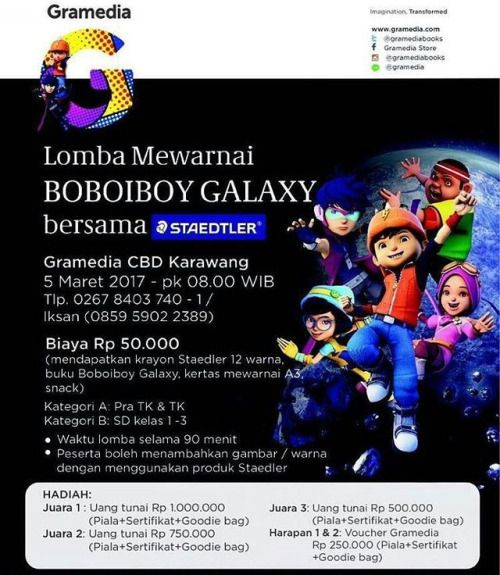 From Elexsmartfamily Lomba Mewarnai Boboiboy Galaxy Bersama