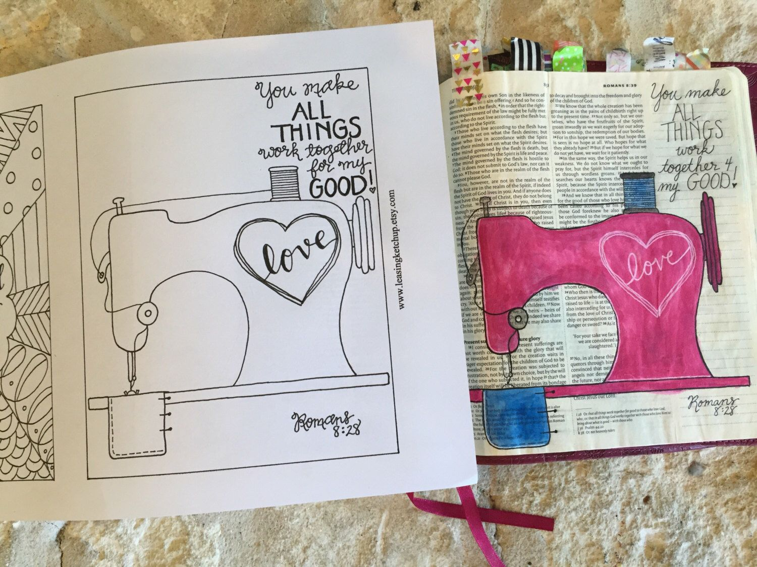 INSTANT DOWNLOAD - Bible Journaling Template by LeasingKetchup on ...