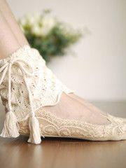 Mori girl crotchet hollow ankle warmer