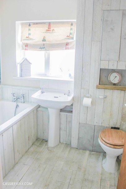 Bathroom Makeover Low Budget diy beach hut bathroom makeover project - low budget renovation-8