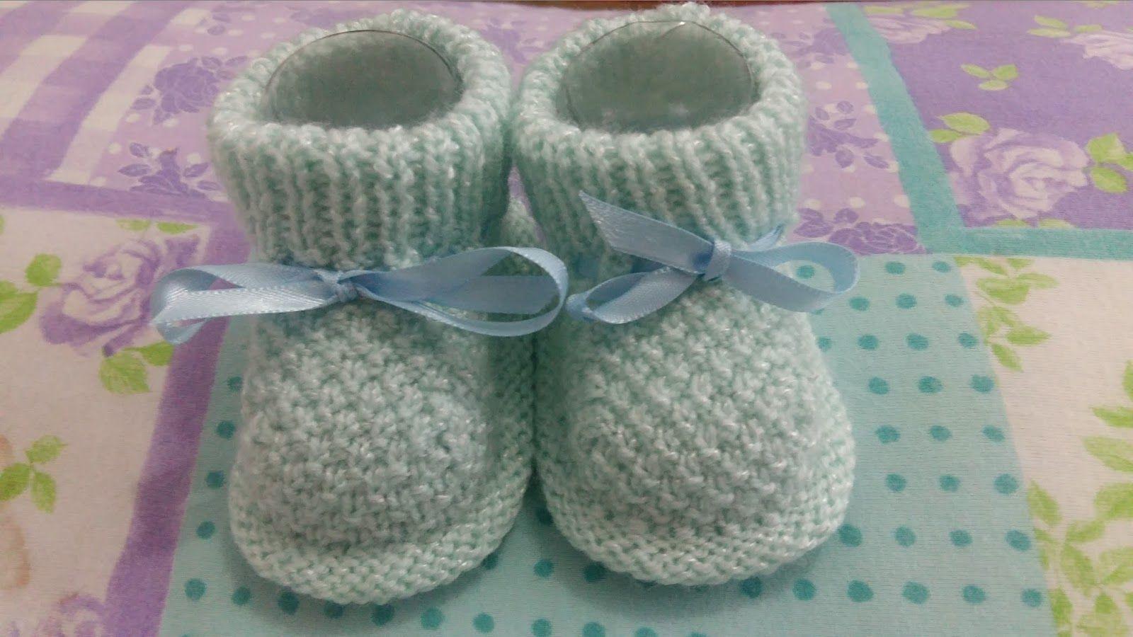 Receita Tricô Fácil Lindo Sapatinho Em trico Para Bebê Receita Completa Em  Trico Este sapatinho e muito fácil de tecer todo em tri. 52a972dc2ce