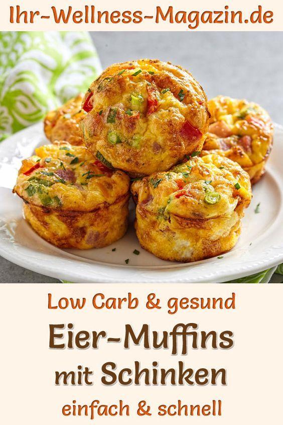 Low-Carb-Eiermuffins mit Schinken - gesundes Rezept fürs Frühstück