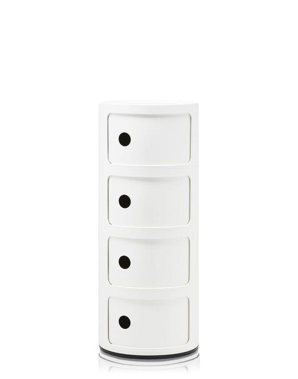 Table De Chevet Componibili kartell componibili container - 4 elemente - blanc