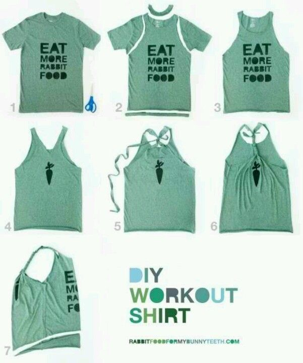 Turn a plain t shirt into workout tank do it yourself diy workout shirt from t shirt solutioingenieria Images