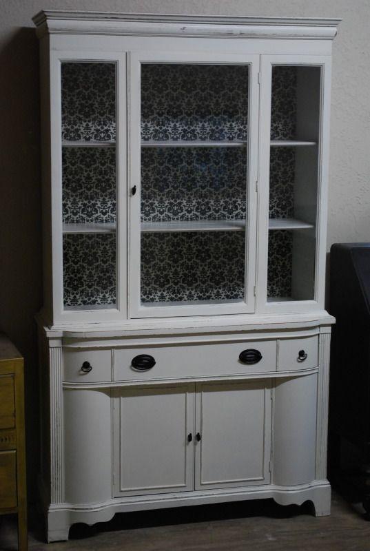 Gorgeous China Cabinet Painting Furniture Diy White China