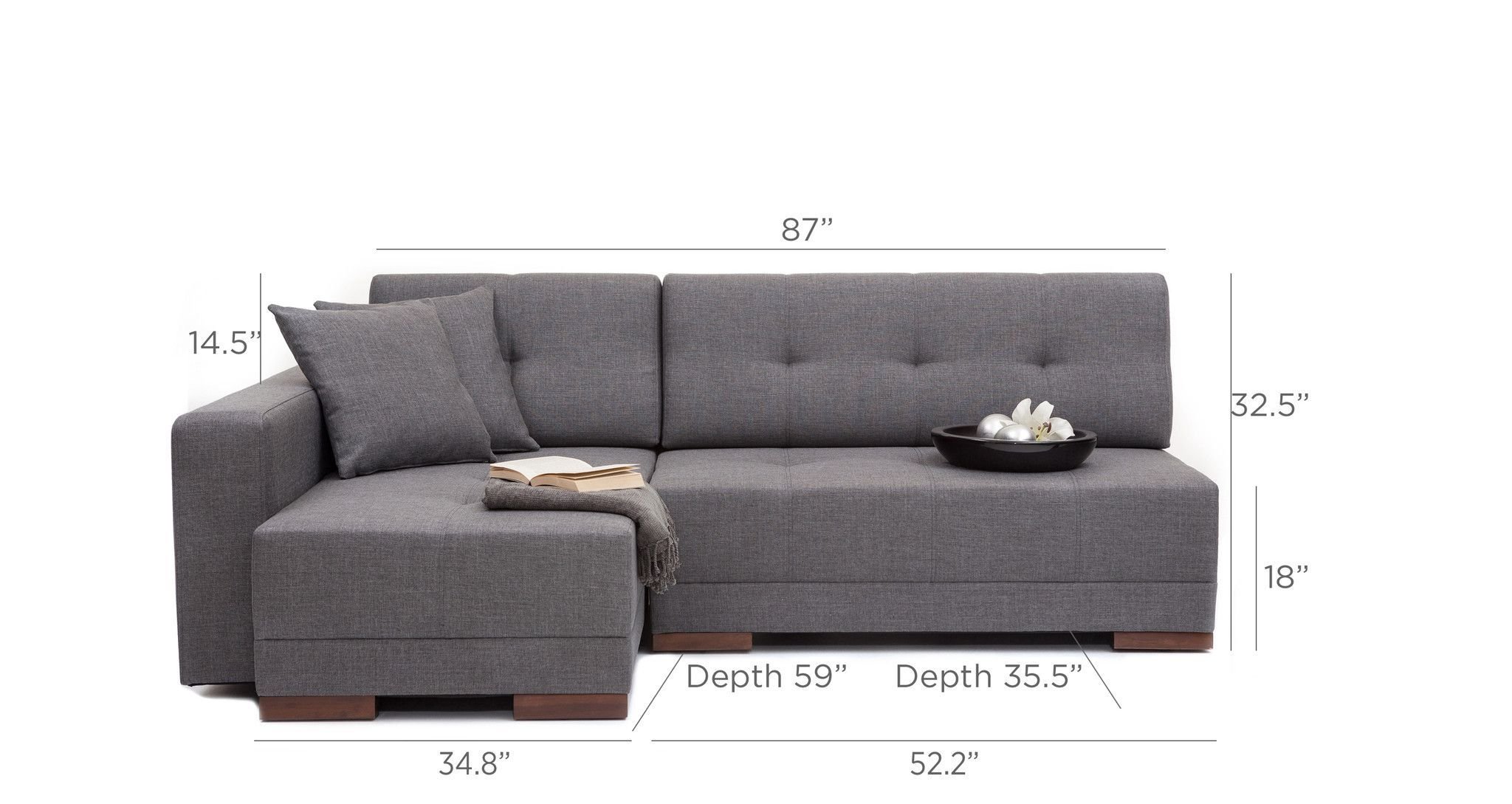 Convertible Sofa Bed Sectional Ashley Furniture Replacement Legs Corner Grey Left Asheville Needs