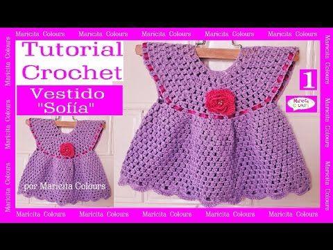 Vestido A Crochet Ganchillo Sofía 1 Tutorial Por Maricita Colours You