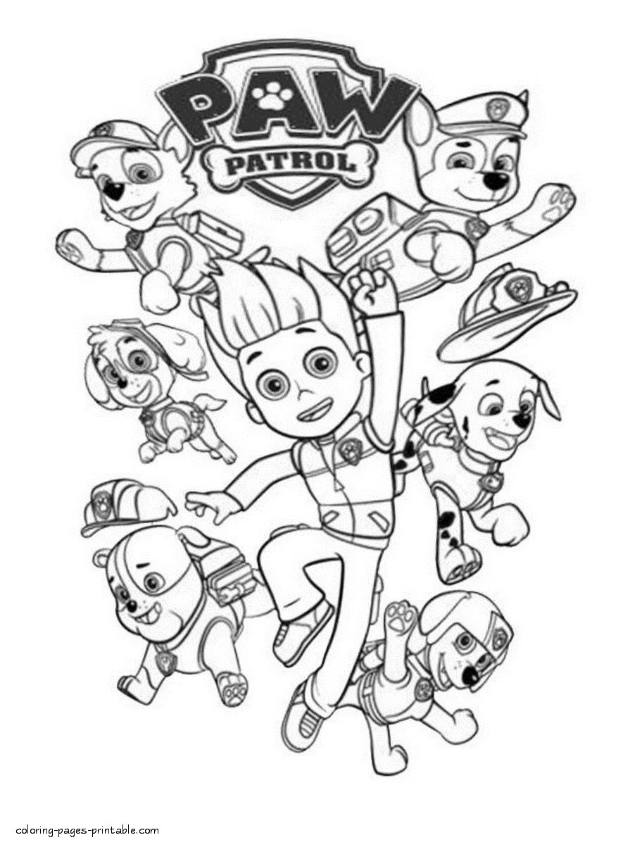 - Paw Patrol Coloring Pages Free Printable Paw Patrol Coloring Pages