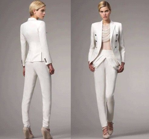 Girls White Pant Suit