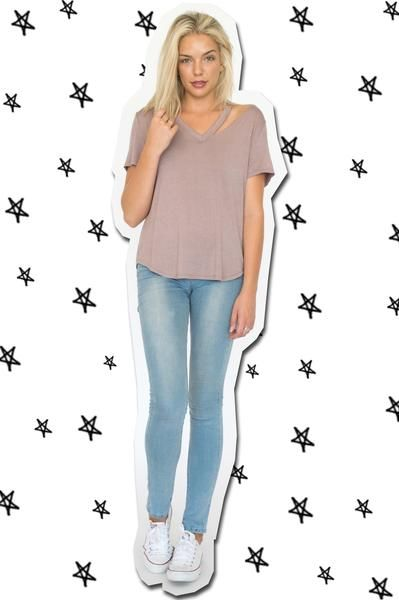 Silicy Cut Out Tee