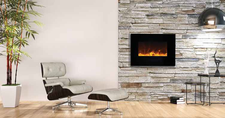 Amantii 35 Built In Wall Mounted Electric Fireplace Wm Fm 26