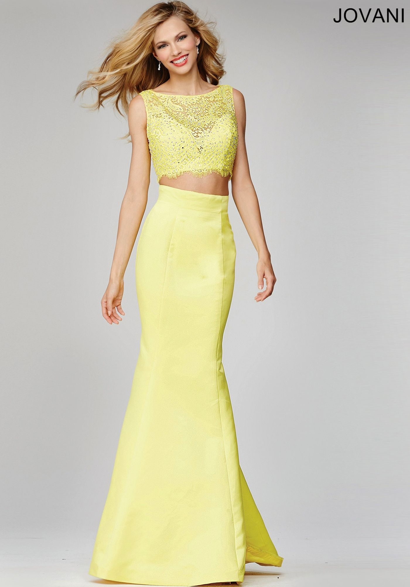 Yellow Two-Piece Prom Dress 24073 - Prom Dresses | Prom Dresses ...